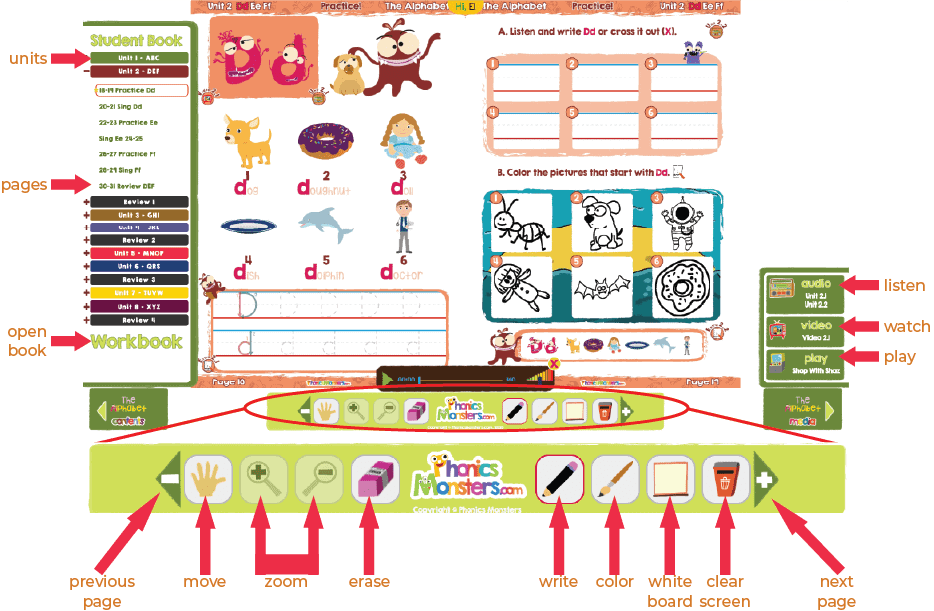 Online Phonics Interactive Book